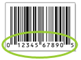 UPC bar code example